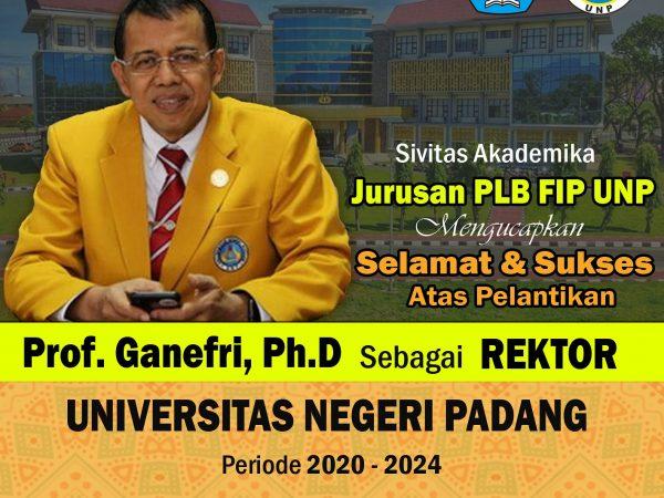 Pelantikan Rektor Universitas Negeri Padang Periode 2020-2024