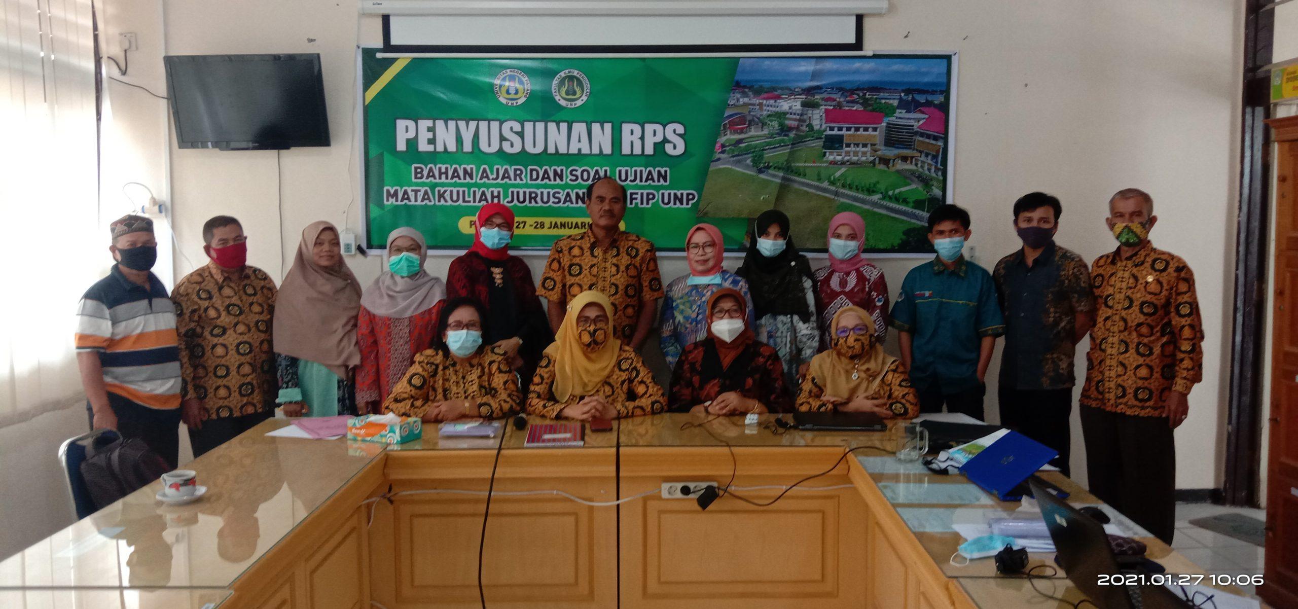 Workshop penyusunan RPS, Bahan Ajar dan Soal Ujian Mata Kuliah Jurusan PLB FIP UNP